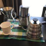 コーヒって豆から挽いても5分で出来るから淹れ方教える